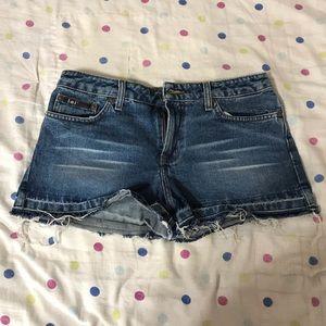 L.e.i low rise denim shorts